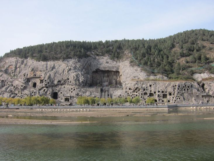 The Grottoes seen from the other side of the river.